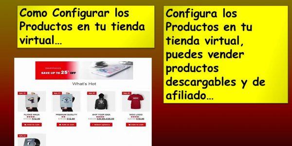 Como Configurar los Productos en tu tienda virtual