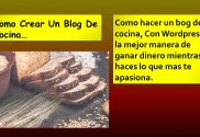Como hacer un blog de cocina