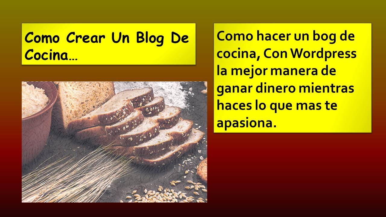Como hacer un blog de cocina cesar for Blog cocina wordpress